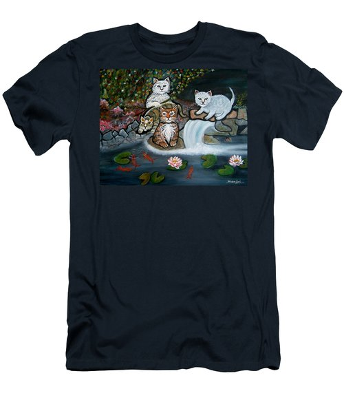 Cats In The Wild Men's T-Shirt (Athletic Fit)