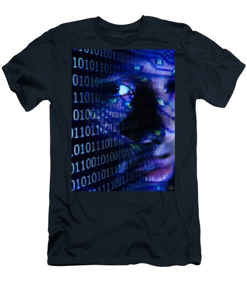 Men's T-Shirt (Slim Fit) featuring the digital art Caught In The Net by Gun Legler