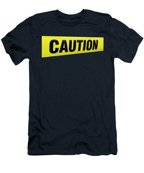 Caution Tape Men's T-Shirt (Athletic Fit)