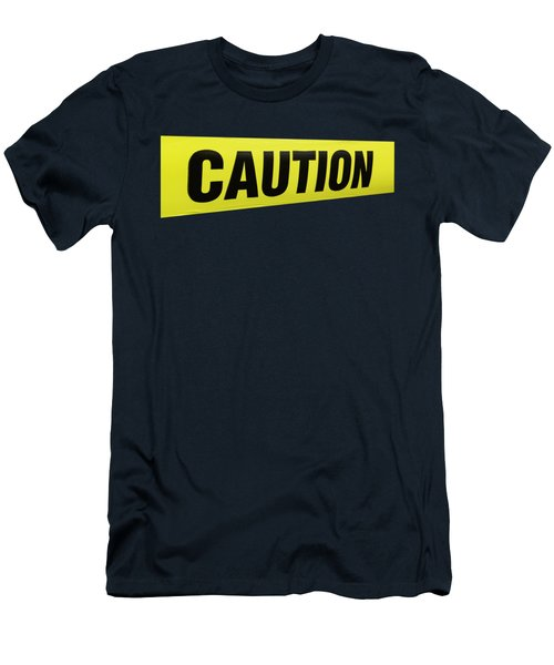 Caution Tape Men's T-Shirt (Athletic Fit)