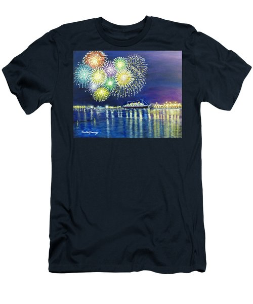 Celebrating In The Lbc Men's T-Shirt (Athletic Fit)
