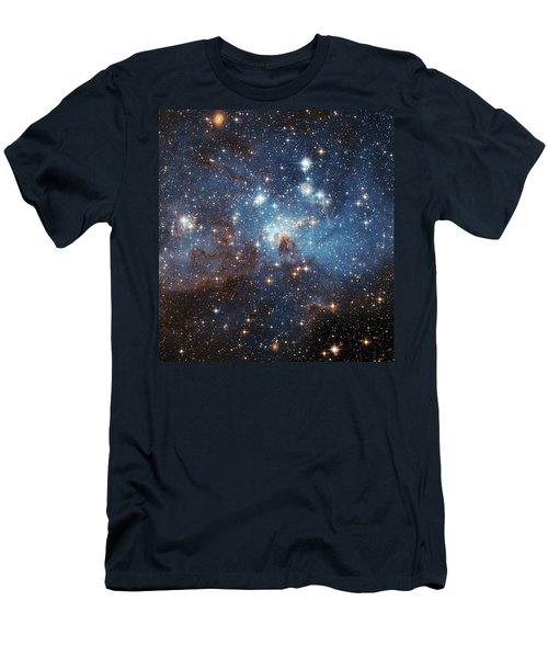 Men's T-Shirt (Slim Fit) featuring the photograph Celestial Season's Greetings From Hubble by Nasa