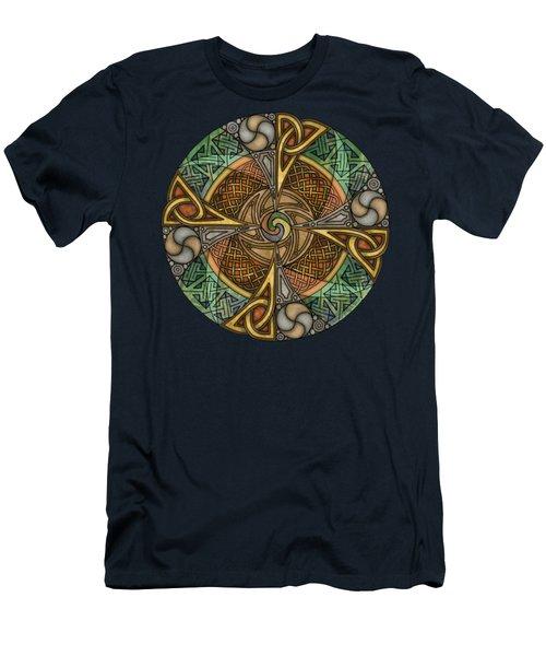 Celtic Aperture Mandala Men's T-Shirt (Athletic Fit)