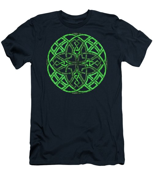 Celtic Clover Mandala Men's T-Shirt (Athletic Fit)