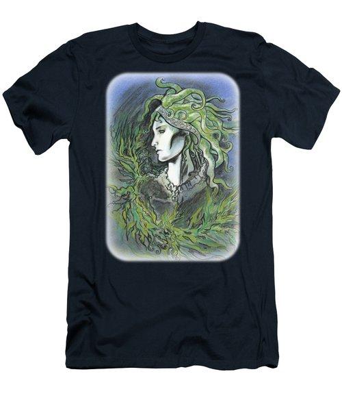 Cephalopod Princess Portrait Men's T-Shirt (Athletic Fit)