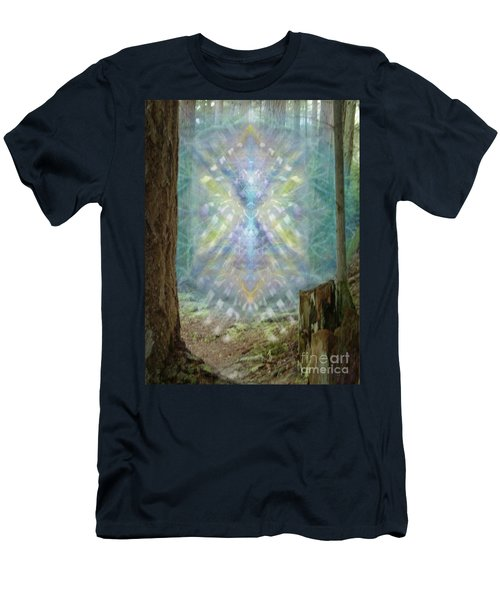 Men's T-Shirt (Slim Fit) featuring the digital art Chalice-tree Spirt In The Forest V2 by Christopher Pringer