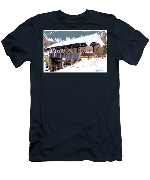Men's T-Shirt (Slim Fit) featuring the digital art Chamberlain Bridge by John Selmer Sr