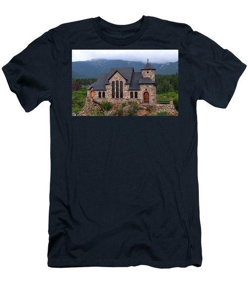 Men's T-Shirt (Athletic Fit) featuring the photograph Chapel On The Rocks 2017 by Dorrene BrownButterfield