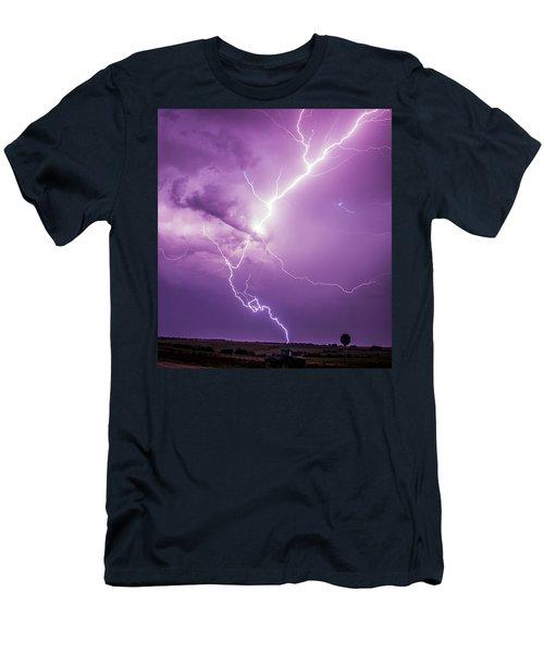 Chasing Nebraska Lightning 018 Men's T-Shirt (Athletic Fit)