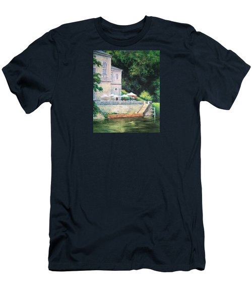 Chateau On The Lot River Men's T-Shirt (Slim Fit) by Jill Musser