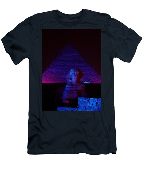 Men's T-Shirt (Athletic Fit) featuring the photograph Cheops In Blue by Donna Corless