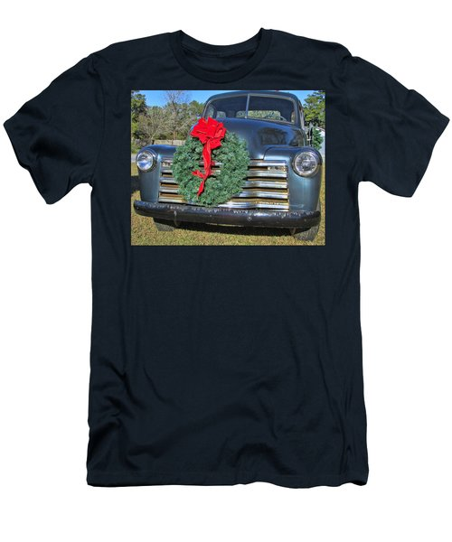 Chevy Christmas Men's T-Shirt (Slim Fit) by Victor Montgomery