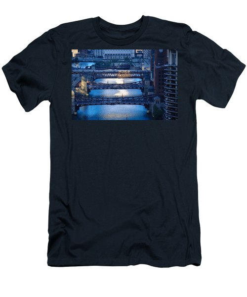 Chicago River First Light Men's T-Shirt (Athletic Fit)