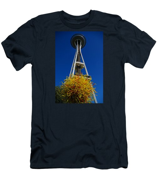 Seattle Space Needle Men's T-Shirt (Athletic Fit)