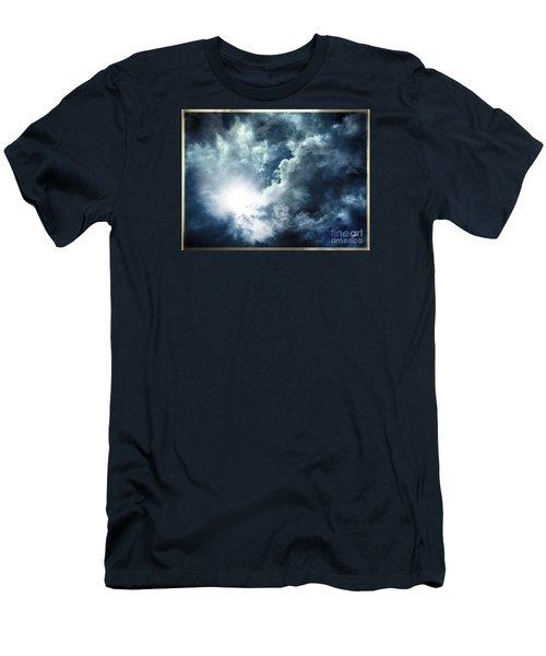 Men's T-Shirt (Slim Fit) featuring the photograph Chink Of Light - Spiraglio Di Luce by Zedi