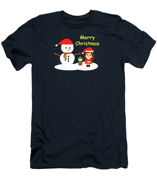 Christmas #5 And Text Men's T-Shirt (Athletic Fit)