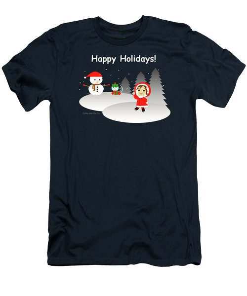 Christmas #6 And Text Men's T-Shirt (Athletic Fit)