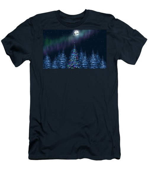 Men's T-Shirt (Slim Fit) featuring the painting Christmas Eve by Veronica Minozzi