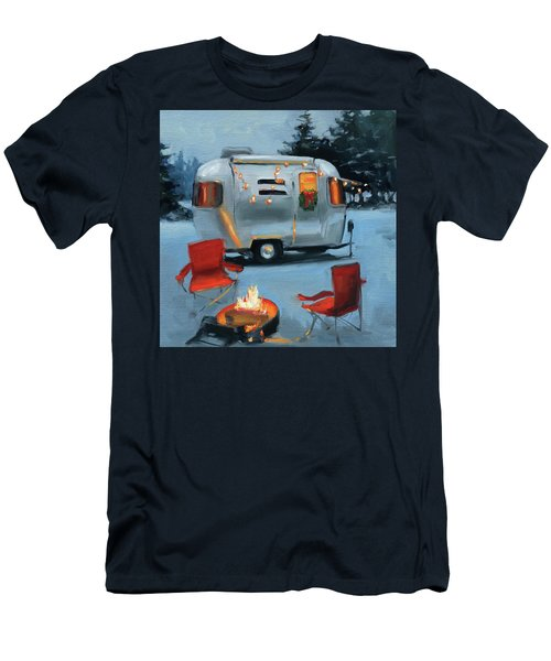 Christmas In The Snow Men's T-Shirt (Athletic Fit)