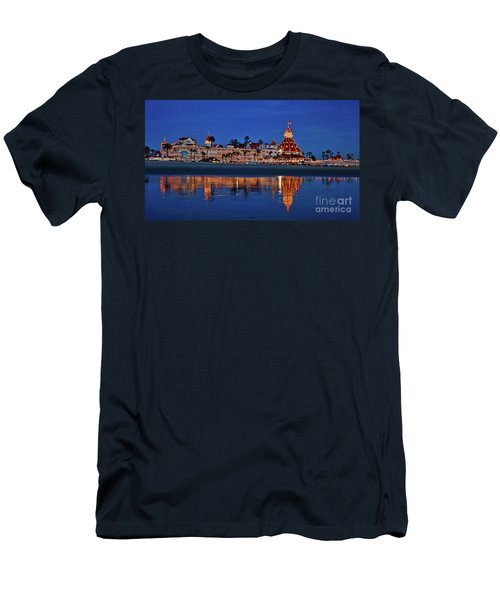 Christmas Lights At The Hotel Del Coronado Men's T-Shirt (Athletic Fit)