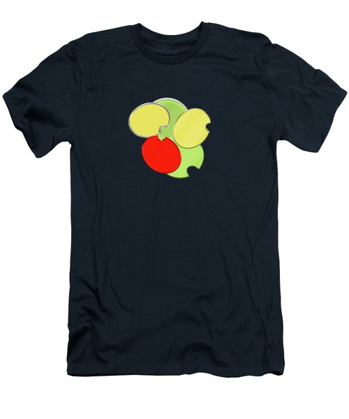 Circles Of Red, Yellow And Green Men's T-Shirt (Athletic Fit)