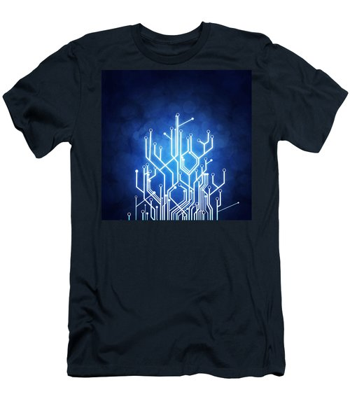 Circuit Board Technology Men's T-Shirt (Athletic Fit)