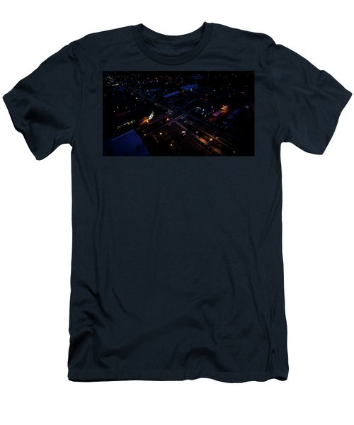 City At Night From Above Men's T-Shirt (Athletic Fit)