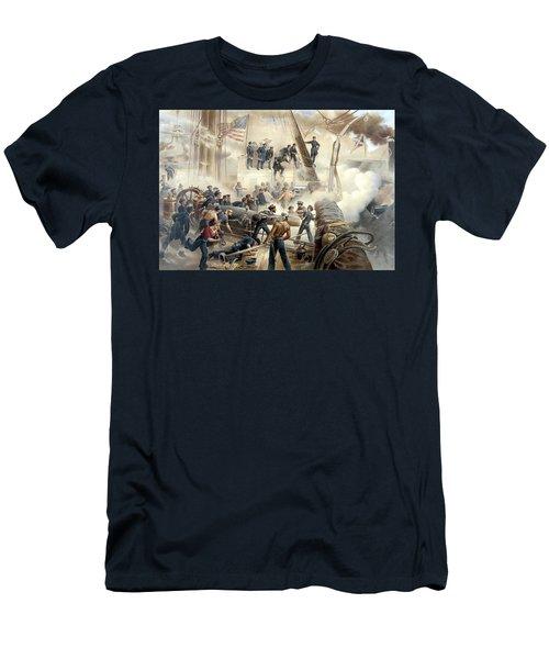 Civil War Naval Battle Men's T-Shirt (Athletic Fit)