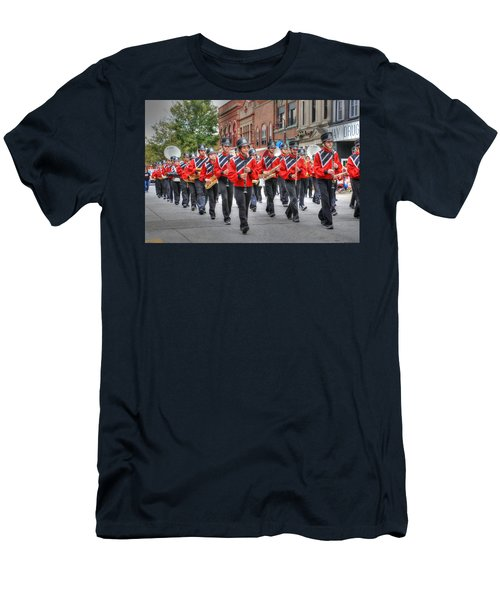 Clarinda Iowa Marching Band Men's T-Shirt (Athletic Fit)