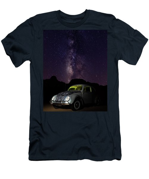 Classic Vw Bug Under The Milky Way Men's T-Shirt (Athletic Fit)