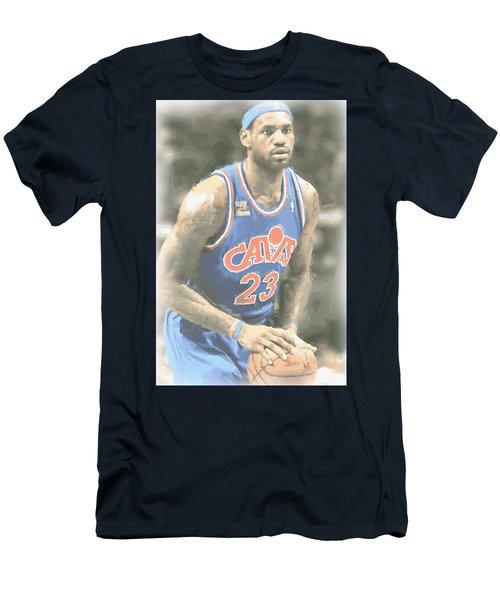 Cleveland Cavaliers Lebron James 1 Men's T-Shirt (Slim Fit) by Joe Hamilton