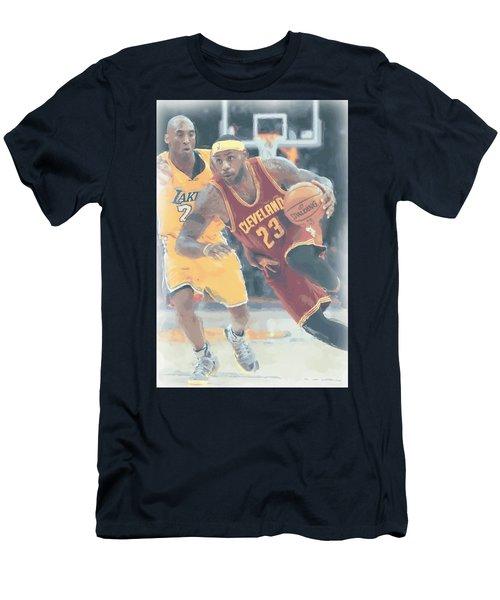 Cleveland Cavaliers Lebron James 3 Men's T-Shirt (Slim Fit) by Joe Hamilton