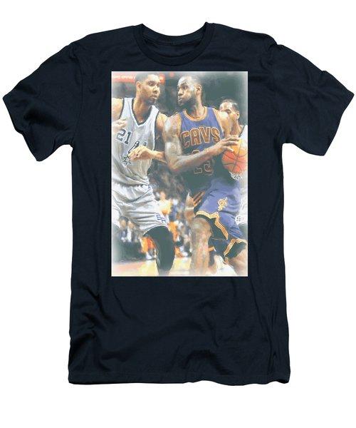 Cleveland Cavaliers Lebron James 4 Men's T-Shirt (Athletic Fit)