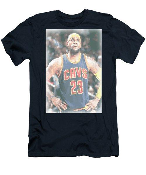 Cleveland Cavaliers Lebron James 5 Men's T-Shirt (Slim Fit) by Joe Hamilton