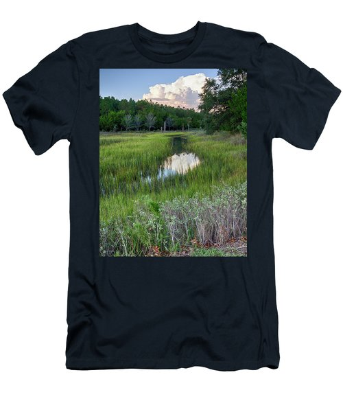 Men's T-Shirt (Slim Fit) featuring the photograph Cloud Over Marsh by Patricia Schaefer