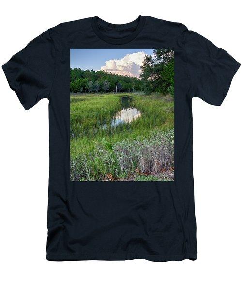 Cloud Over Marsh Men's T-Shirt (Slim Fit) by Patricia Schaefer