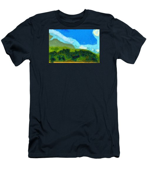 Men's T-Shirt (Slim Fit) featuring the painting Cloud River by Spyder Webb