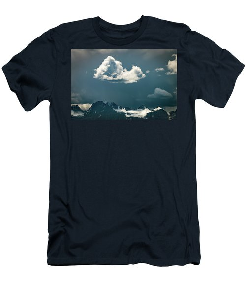 Men's T-Shirt (Athletic Fit) featuring the photograph Clouds Over Glacier, Banff Np by William Lee