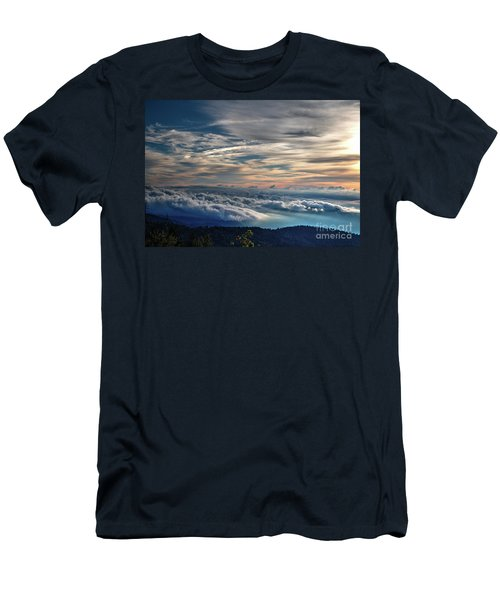 Men's T-Shirt (Slim Fit) featuring the photograph Clouds Over The Smoky's by Douglas Stucky