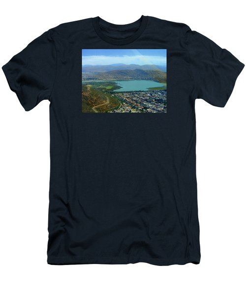 Men's T-Shirt (Slim Fit) featuring the photograph Cochabamba Lake by Lew Davis