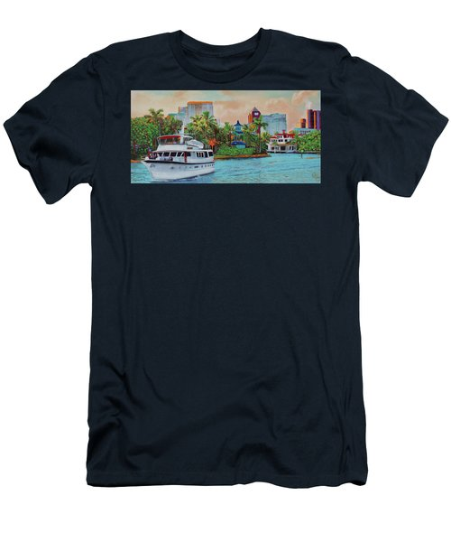 Cocktails On The New River Men's T-Shirt (Athletic Fit)