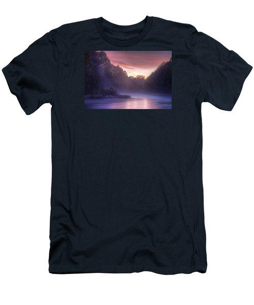 Cold Blue Mist Men's T-Shirt (Slim Fit) by Robert Charity