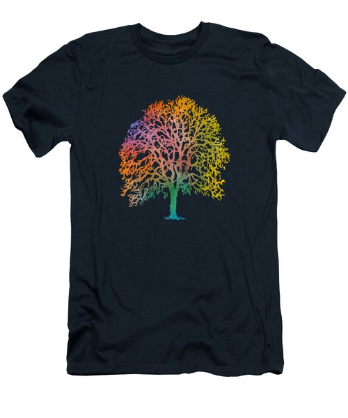 Color Abstract Painting Men's T-Shirt (Athletic Fit)
