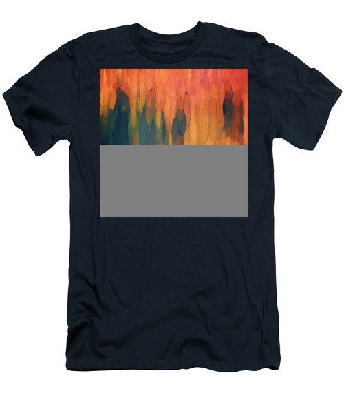 Color Abstraction L Sq Men's T-Shirt (Athletic Fit)