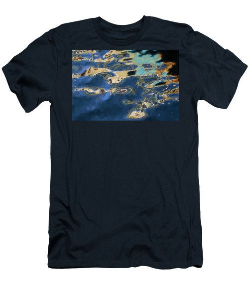 Color Abstraction Xxxvii - Painterly Men's T-Shirt (Slim Fit) by David Gordon