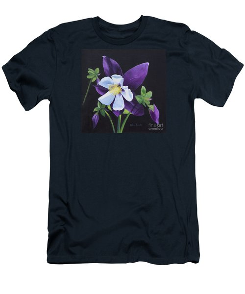 Colorado Blue Columbine Men's T-Shirt (Athletic Fit)