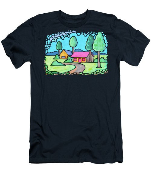 Houses And Trees Men's T-Shirt (Athletic Fit)