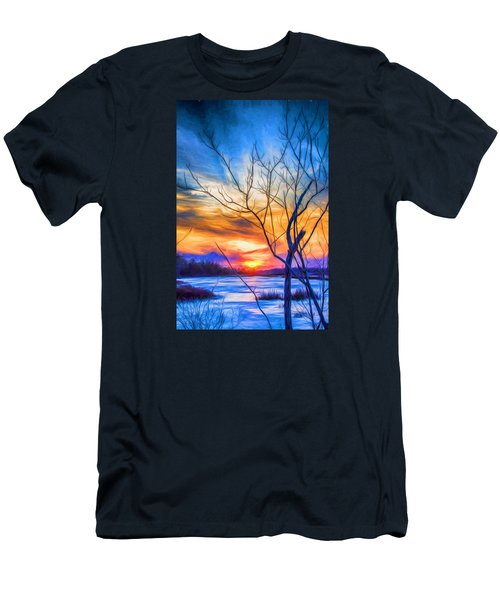 Colorful Cold Sunset Men's T-Shirt (Athletic Fit)