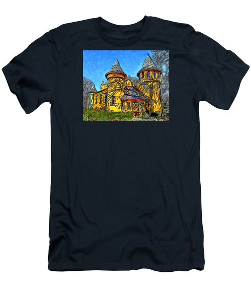 Colorful Curwood Castle Men's T-Shirt (Slim Fit) by Bruce Nutting
