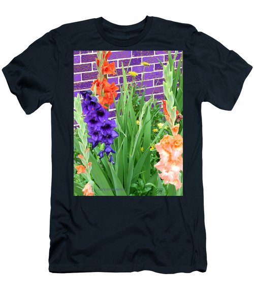 Colorful Gladiolas Men's T-Shirt (Athletic Fit)
